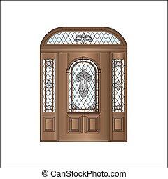 wooden ajtó