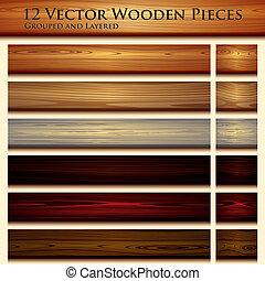 wooden alkat, háttér, ábra, seamless