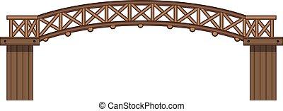 wooden bridzs, elszigetelt