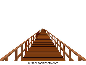 wooden bridzs, kapaszkodó