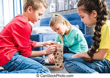 wooden gátol, gyermekek játék