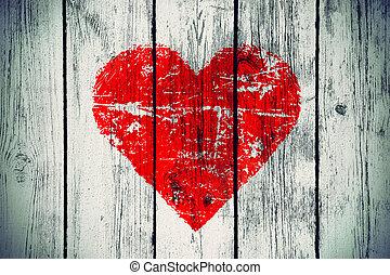 wooden közfal, jelkép, szeret, öreg