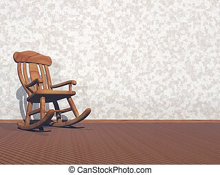 wooden karosszék, -, render, 3