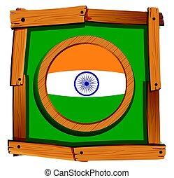 wooden keret, india lobogó