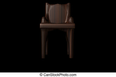 wooden tanszék, render, 3