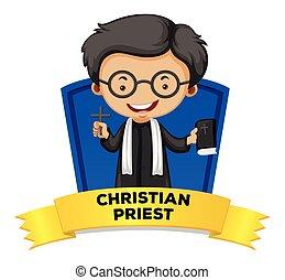 wordcard, lelkész, keresztény, foglalkozás