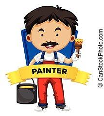 wordcard, szobafestő, foglalkozás