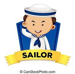 wordcard, tengerész, foglalkozás