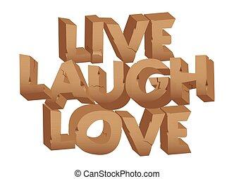 words., él, szeret, nevet