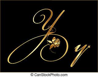 y, arany-, vektor, levél