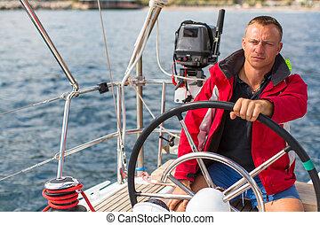 yacht., figyelmetlen ember, vitorlázás