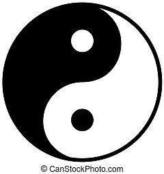 yang, jelkép, összhang, ying, egyensúly