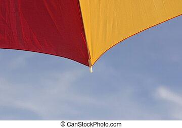 yello, napernyő, piros