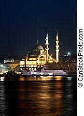yeni camii, félhomály, mecset, új