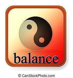 ying, jelkép, egyensúly, összhang, yang