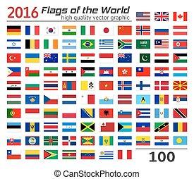 zászlók, állhatatos, különböző, countries.
