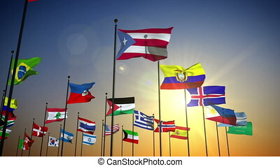 zászlók, nemzetek