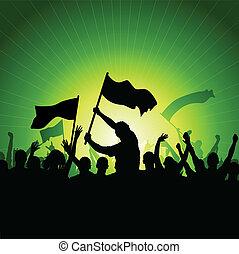 zászlók, tolong, boldog