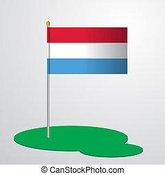 zászlórúd, luxemburg