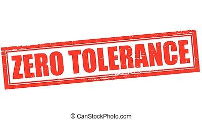 zéró, tolerancia
