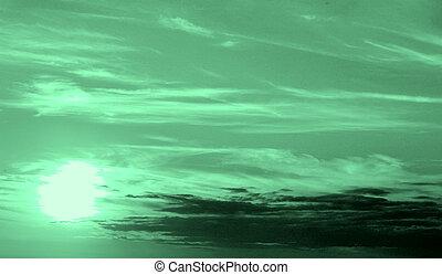 zöld ég