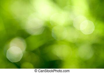 zöld absztrahál, backgound, természetes