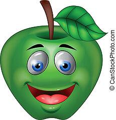 zöld alma, karikatúra