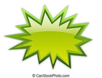 zöld, dörgés, ikon