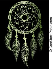 zöld, dreamcatcher
