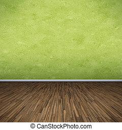 zöld, emelet
