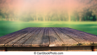 zöld, erdő, öreg, struktúra, asztal