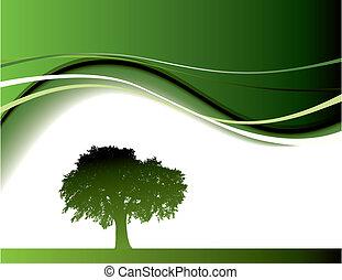 zöld fa, háttér