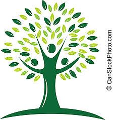 zöld fa, jel