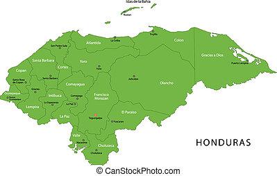 zöld, honduras, térkép