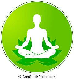 zöld, jóga