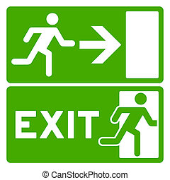 zöld, jelkép, kijárat