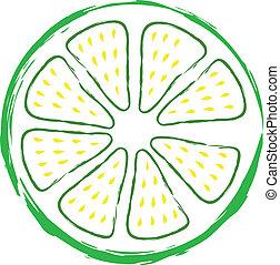 zöld, lime