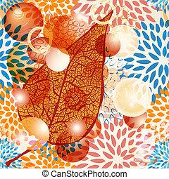zöld példa, seamless, ősz, vektor, virágos, panama