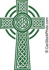 zöld, részletek, celtic kereszteződnek