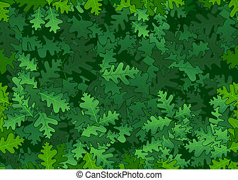zöld, tölgy, seamless, struktúra