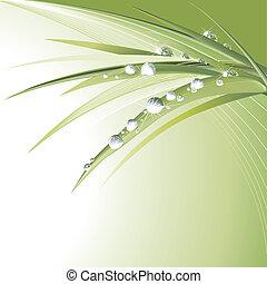zöld, zöld, waterdrops