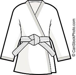 zakó, harcművészetek, kimonó