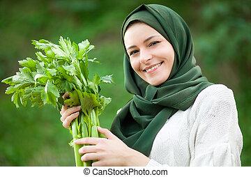 zeller, nő, muzulmán
