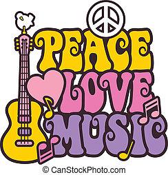 zene, befest, béke, szeret, fényes