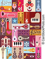 zene, graphic tervezés