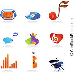 zene gyűjtés, ikonok