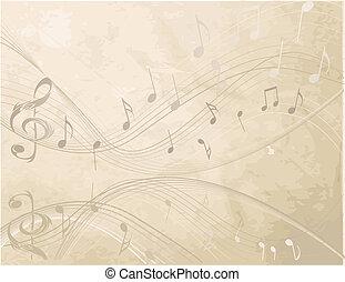 zene, háttér, nem, szüret