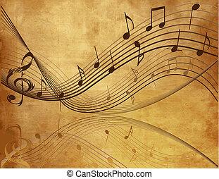 zene, háttér, szüret