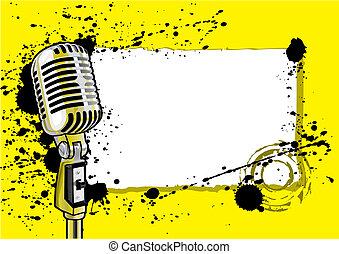 zene, tervezés, esemény, (vector)