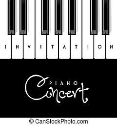 zongora, egyetértés, meghívás